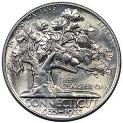 1935 Connecticut Commemorative Half Dollar, MS65.