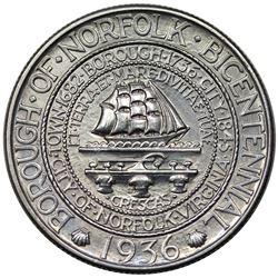 1936 Norfolk Commemorative Half Dollar, MS63.