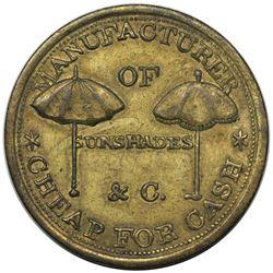 (1847-50) Philadelphia, PA: Henry B. Fussell Token, Miller PA-171B, brass, AU55.