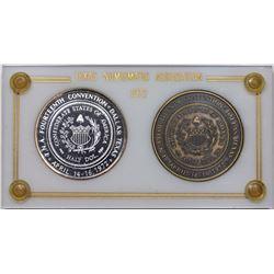 1972 Texas Numismatic Society Dallas Convention Medals, 2 piece set in original case.