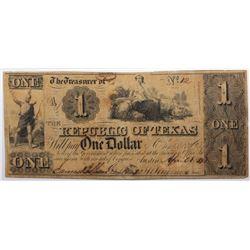Austin, Texas: Republic of Texas, 1839-41 $1, Cr. A1, PMG 20.