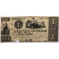 Austin, Texas: Republic of Texas, 1839-41 $1, Cr. A1, PMG 45.
