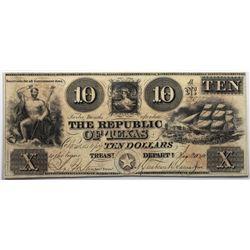 Austin, Texas: Republic of Texas, January 20, 1840 $10, Cr. A5, Legacy 25 PPQ, Fricke Silver PLUS.