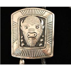 Impressive Thomas Singer Silver Buffalo Bolo