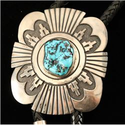 Tommy Singer Sterling & Turquoise Bolo