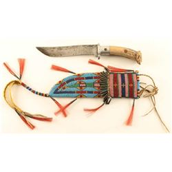 Sioux Beaded Sheath & Knife
