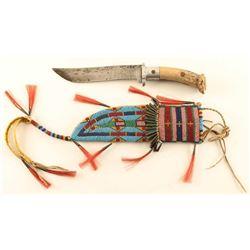 Sioux Beaded Sheath & Knife