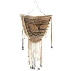 Very Large Figural Apache Burden Basket
