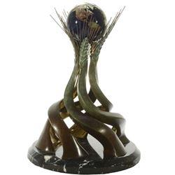 Bronze Glass Sculpture World Friendship Monument