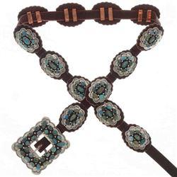 Navajo Turquoise Concho Belt