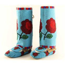 Shoshone Rose Leggings & Moccasins