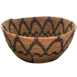 Vintage Jicarilla Apache Polychrome Basket