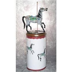 Vintage Arabian Horse Carousel Bronze
