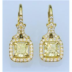 Sensational Fancy Colored Diamond Earrings