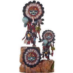Hopi 2 Sunface Kachina Dolls