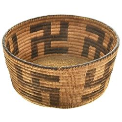 Early Pima Basket Whirling Log Pattern