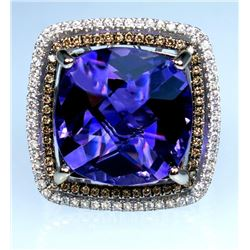 Exciting 12.30 carat Amethyst and Diamond Ring