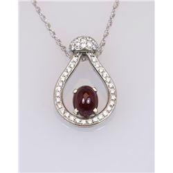 Exquisite High Quality Ruby and Diamond Pendant