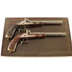 Pair of percussion dueling pistols