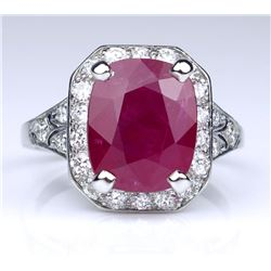 Magnificent 5.41 carat Ruby and Diamond Ring
