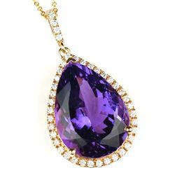 Fantastic Amethyst and Diamond Pendant