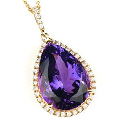 Fantastic Amethyst and Diamond Pendant