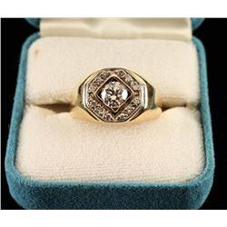 Handsome Mens diamond ring