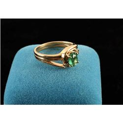 Ladies Emerald and diamond ring set