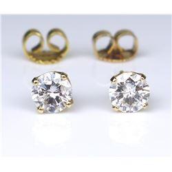 Dazzling Round Diamond Stud Earrings