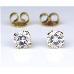 Dazzling Round Diamond Stud Earrings