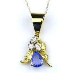 Vibrant Tanzanite and Diamond Pendant