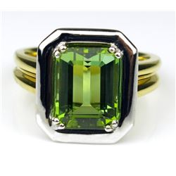 Vibrant High Quality Emerald cut Green