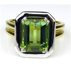 Vibrant High Quality Emerald cut Green