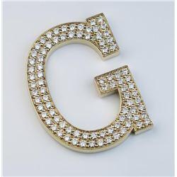 Incredible Diamond Studded Letter 'G'