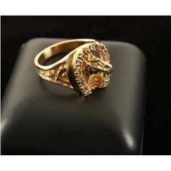Unisex Horseshoe Diamond Ring