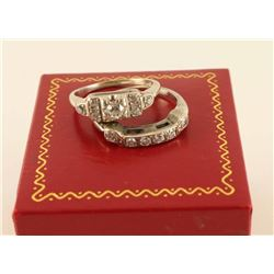 Timeless Art Deco Diamond Ring Set