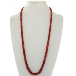 Apple Coral Beaded Indian Necklace
