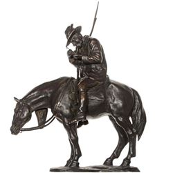 Man on Horse Bronze Sculpture
