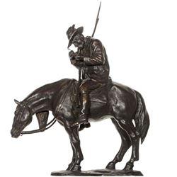 Man on Horse Bronze Sculpture