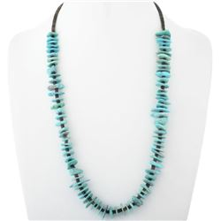 Santo Domingo Natural Turquoise Heishi Necklace