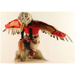 Large Eagle Dancer Kneeling Kachina