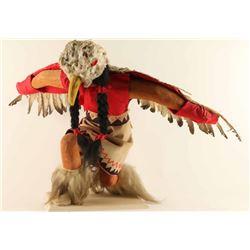 Large Eagle Dancer Kneeling Kachina