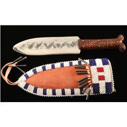 Assiniboine Beaded Knife Sheath