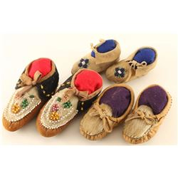 (3) Pairs of Baby Moccasins
