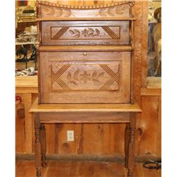 Antique American Oak Secretary