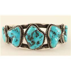 Navajo Bisbee Turquoise Cuff