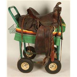 High back saddle made by O J Snyder