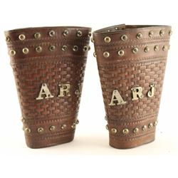 Tooled Leather Cowboy Cuffs