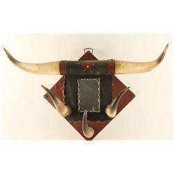 Vintage Bunkhouse Mirror/ Coat hanger