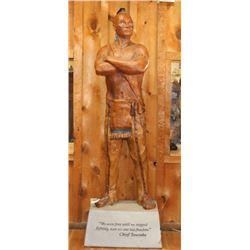 Life Size Statue Of Chief Tawonka
